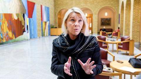 Monica Mæland snakket i dag med de parlamentariske lederne på Stortinget.