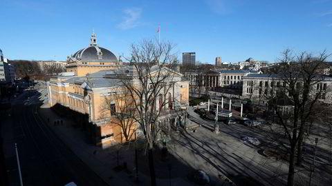 Nationaltheatret i Oslo forfaller.