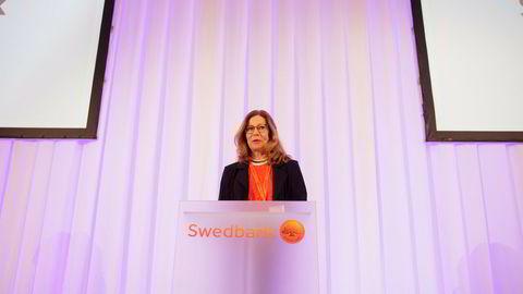 Administrerende direktør Birgitte Bonnesen i Swedbank.