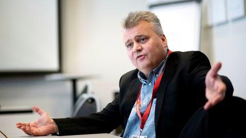 Fellesforbundets forbundsleder Jørn Eggum mener det er alarmerende at lønnsveksten i offentlig sektor er såpass mye høyere enn i industrien.