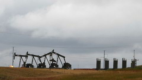 Fra skifer-området Bakken i Nord-Dakota i USA.