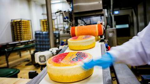 Jarlsberg ost produsert i Norge.