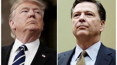 President Donald Trump har sparket FBI-sjef James Comey (til høyre). Reaksjonene er kraftige.