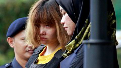 Den vietnamesiske kvinnen Doan Thi Huong erklærte seg onsdag ikke skyldig i å ha begått drap på halvbroren til Nord-Koreas statsleder Kim Jong-un.