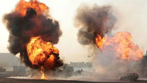Styrkene til De forente arabiske emirater viste seg frem for folket 1. november i fjor i Ras al Khaimah nord for Dubai.
