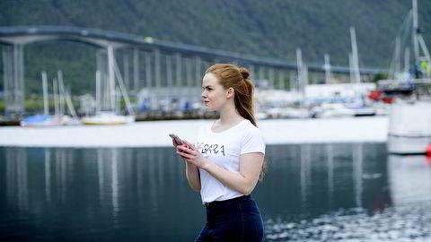 Regine Aronsen Finjord er personlig trener, gründer av treningsklær merket Bara og mikropåvirker i Tromsø. Foto: