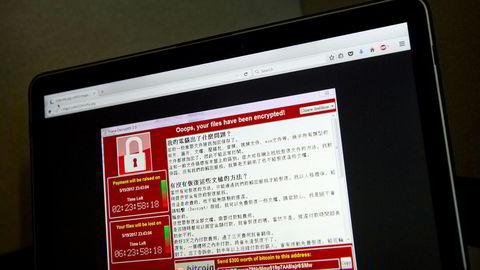 Løsepengeviruset Wannacry fikk mye oppmerksomhet i hele verden. Denne typen cyberkriminalitet gir bakmennene ti milliarder kroner i årlige inntekter.