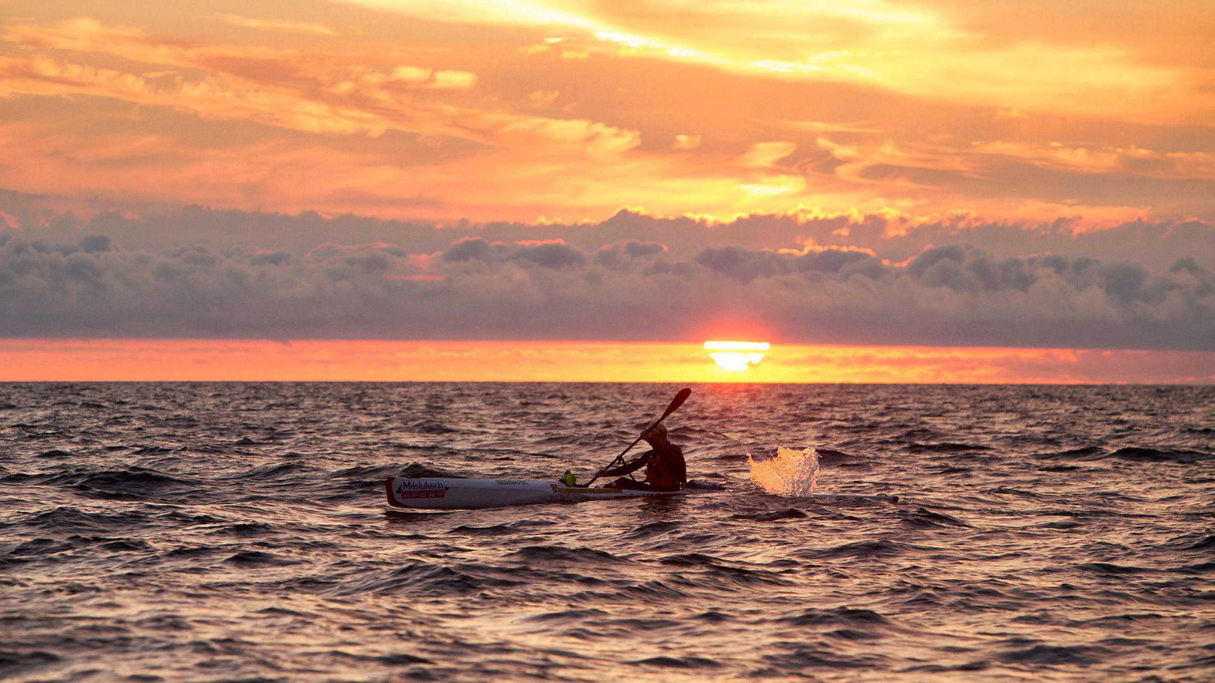 Da Eivind Andreas Vold padlet over Skagerrak i fjor sommer, startet han turen midt på natten. Ved soloppgang så han hverken Norge eller Danmark.
