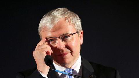 IPI-styreleder Kevin Rudd har ikke uttalt seg om koblingene til Jeffrey Epstein før nå.
