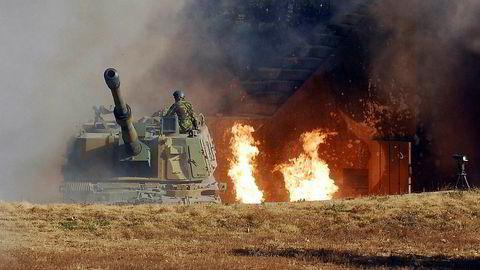 Norge har nettopp kjøpt inn nytt artilleri til Hæren. Våpensystemet K9 Thunder er kjøpt fra Sør-Korea.