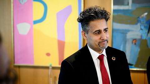 Kulturminister Abid Raja møtte fredag Norway Chess i Stavanger.