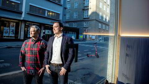 – Vi regner ikke med at alle selskapene vi satser på vil overleve, sier David Baum (til venstre), daglig leder i Finstart Nordic. Finstart har investert i selskapet Myrent og daglig leder Kurt Alexander Bakkevig ser for seg å vokse fra to til ti ansatte det neste året.