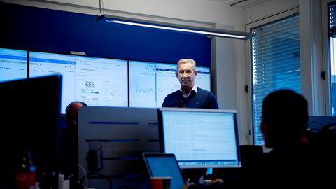 Det er høysesong og full aktivitet hos Inspera der daglig leder Truls Bøhm og de ansatte overvåker de digitale eksamenene som gjennomføres i Norge og hos kunder i utlandet.