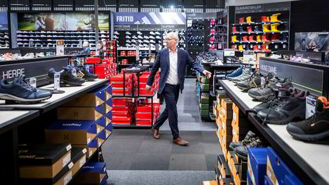 Konsernsjef Pål Wibe var onsdag på XXLs hovedkontor og butikk på Alnabru. Han startet i jobben i april – med hjemmekontor.