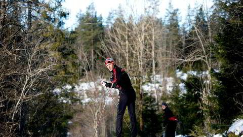 Anders Aukland staker seg gjennom Lommedalen i sin 25. sesong som seniorløper. Den første femmila i Holmenkollen gikk han i 1993.