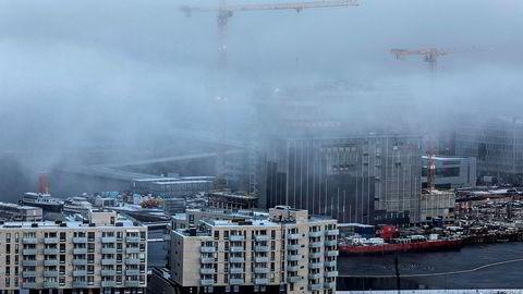 Illustrasjonsfoto av Oslo sett fra Ekebergrestauranten.
