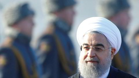 Irans president Hassan Rouhani har fått fornyet tillit i valget i landet. ArkivbildeREUTERS/Maxim Shemetov/File Photo ---