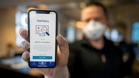 Folkehelseinstituttets app Smittestopp for smittesporing.