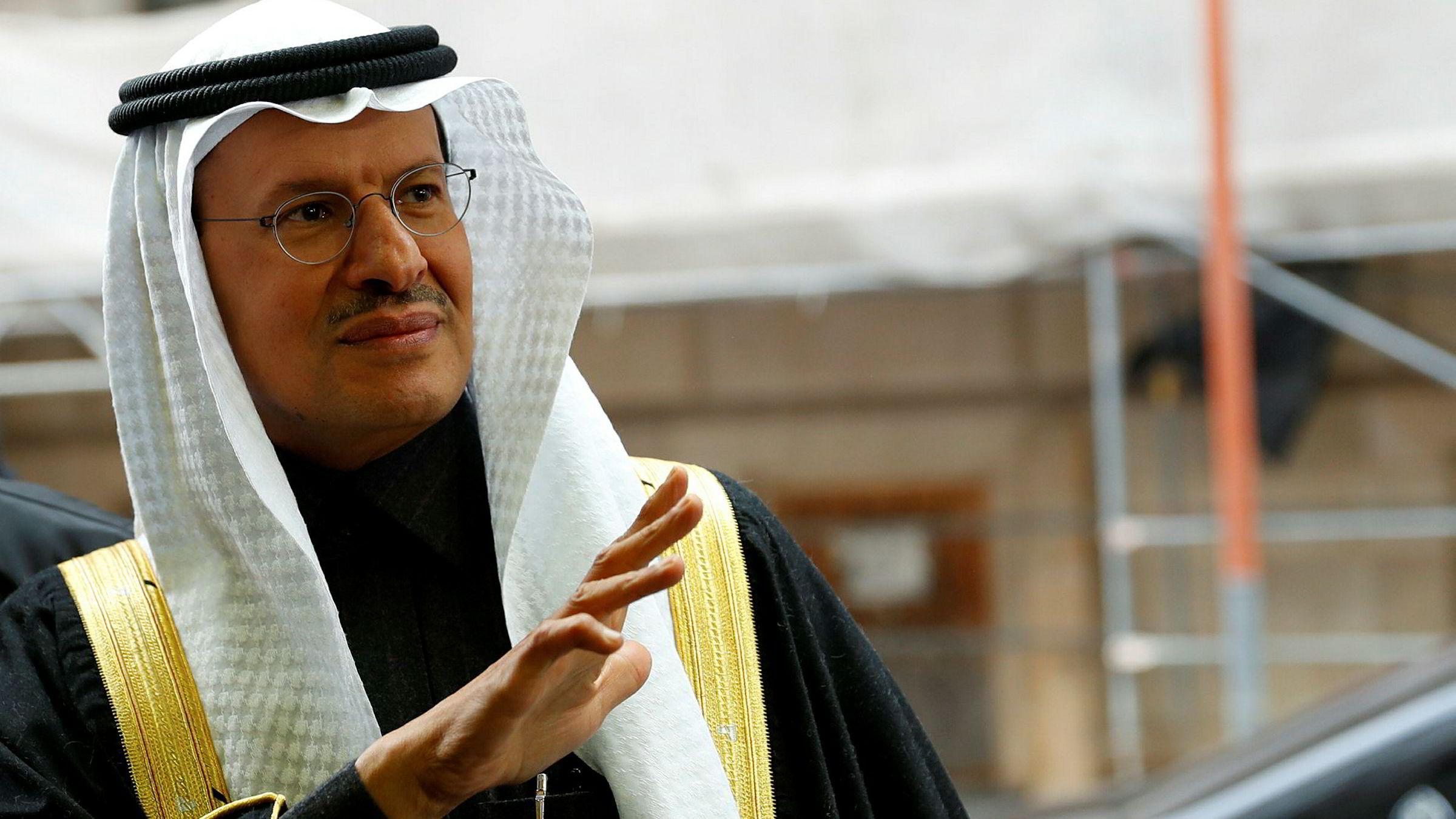 Saudi Arabias oljeminister Abdulaziz Salman ankommer Opecs hovedkvarter i Wien i Østerrike torsdag.