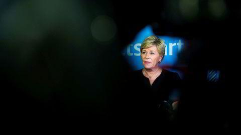 Målet hennes var å gjøre Frp til et regjeringsparti. Det klarte Frp-leder Siv Jensen. Men nå er det slutt.