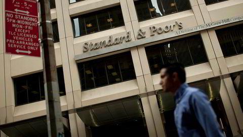 Det har oppstått mange formelle krav de seneste årene som har gjort kredittratingene enda viktigere enn før. Her Standard & Poor's i New York.