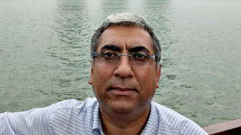 Spionsiktede Harsharn Singh Tathgar  i DNV GL jobbet med utviklingsprosjekter hos Kongsberg Maritime og fikk en pris av DNB i konkurranse med 55 andre. Bildet er hentet fra hans Facebook-profil.