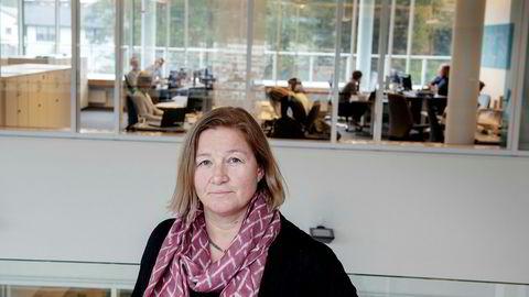 Administrerende direktør i Holbergfondene Magny Øvrebø, beskriver ukens første handelsdag på Oslo Børs som «hektisk, men under kontroll».