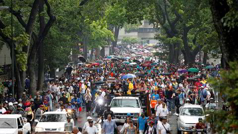 Venezuelas president Nicolas Maduro er omstridt, og nå blir det store demonstrasjoner både for og i mot presidenten.