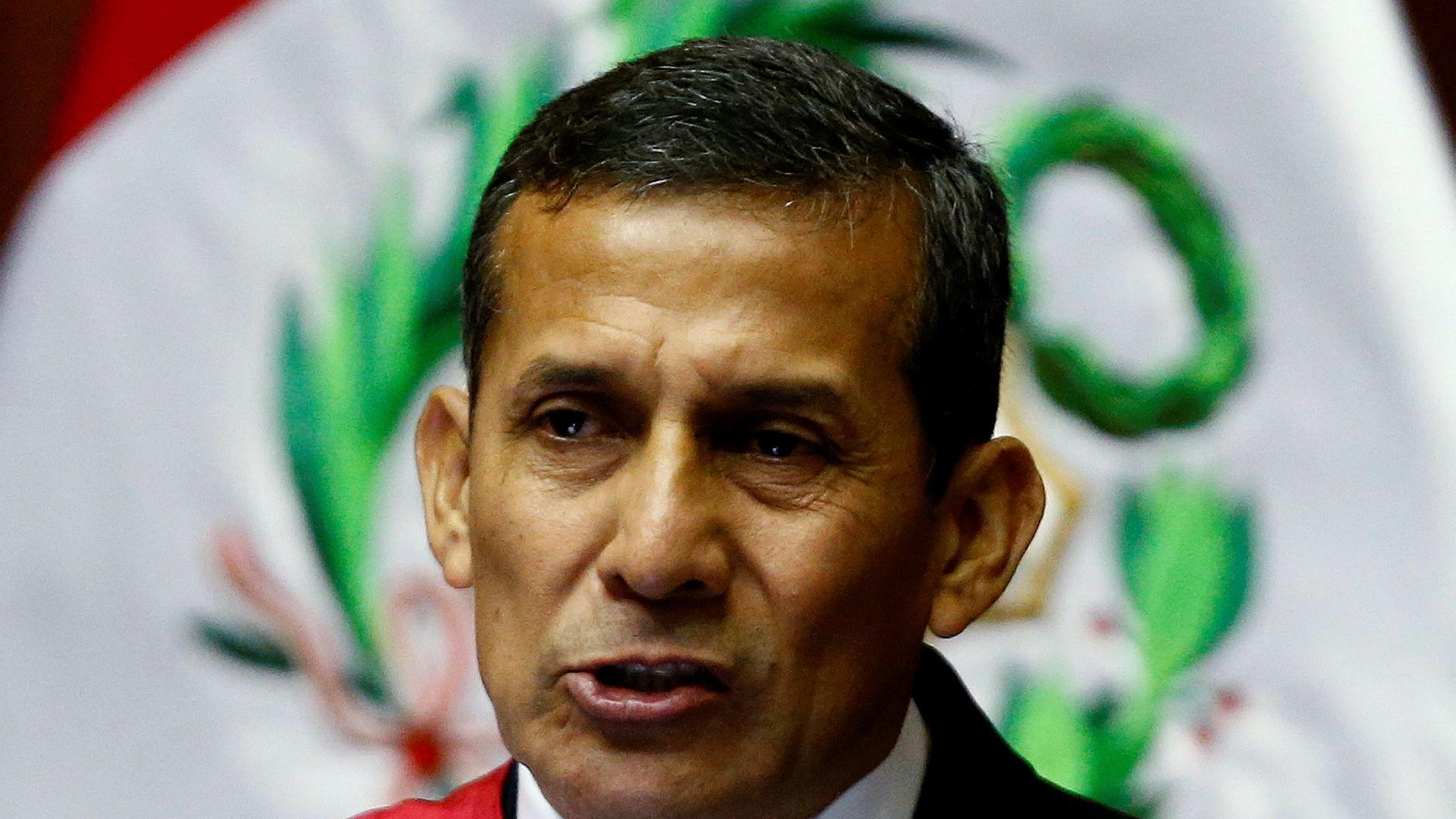 Totalt tre millioner dollar i bestikkelser, over 25 millioner kroner, ble gitt til Perus tidligere president Ollanta Humala, som vant valget i 2011.