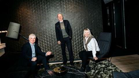 Investinor og investeringsdirektør Jon Øyvind Eriksen (til venstre) leder an i den nye emisjonen. Styreformann Sverre Munck (midten) har også investert, og partner Bente Loe i Alliance Ventures Spring har fulgt selskapet helt siden første emisjon.