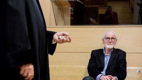 Nipsmillionær Ole-Hugo Jensen gikk delvis seirende ut av rettsbataljen med sin nevø som mente onkelen skyldte ham penger etter at de to røk uklare i forbindelse med felles eiendomsprosjekter i Bergen. Jensens advokat Viggo Scherger i Rime (til venstre).