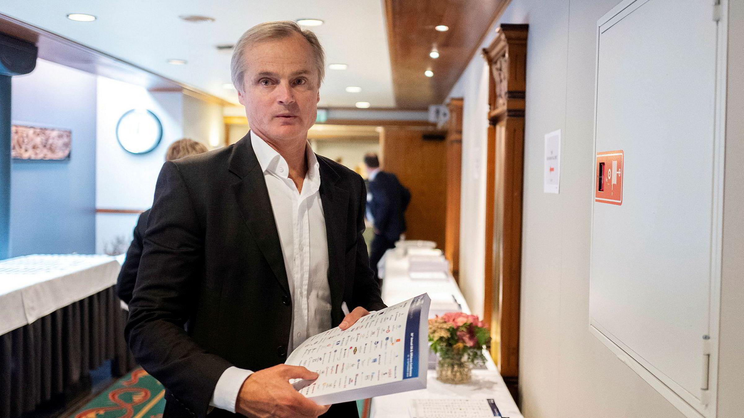 Investor Øystein Stray Spetalen. Bildet er tatt under Paretokonferansen tidligere i høst.