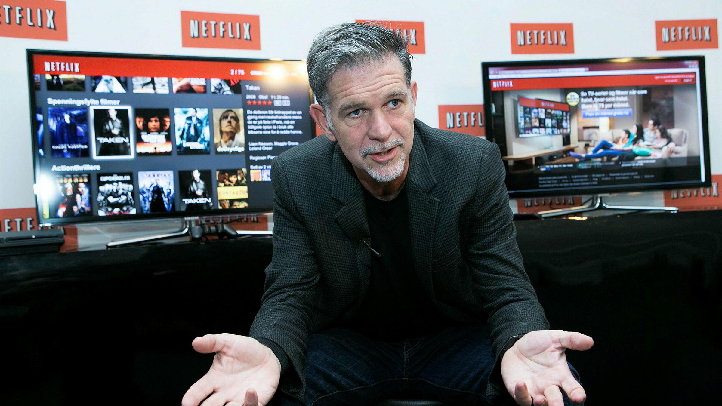 Reed Hastings og Netflix vil kjempe for et åpent internett.