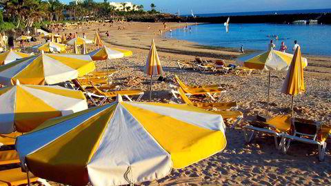 Bildet er fra Lanzarote, Spania.