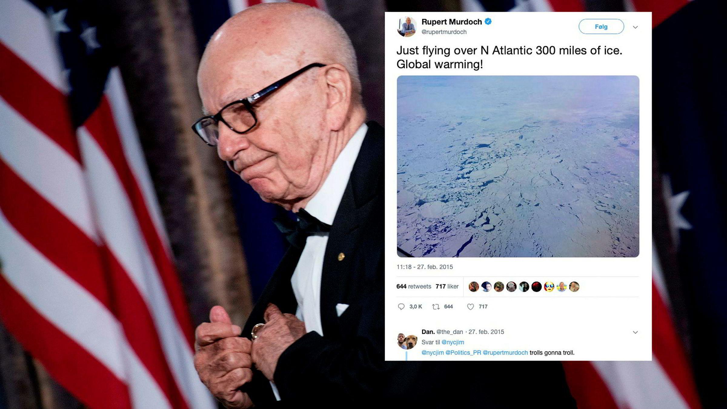 Mediene Rupert Murdoch kontrollerer, sprer klimafornektelse på flere kontinenter.