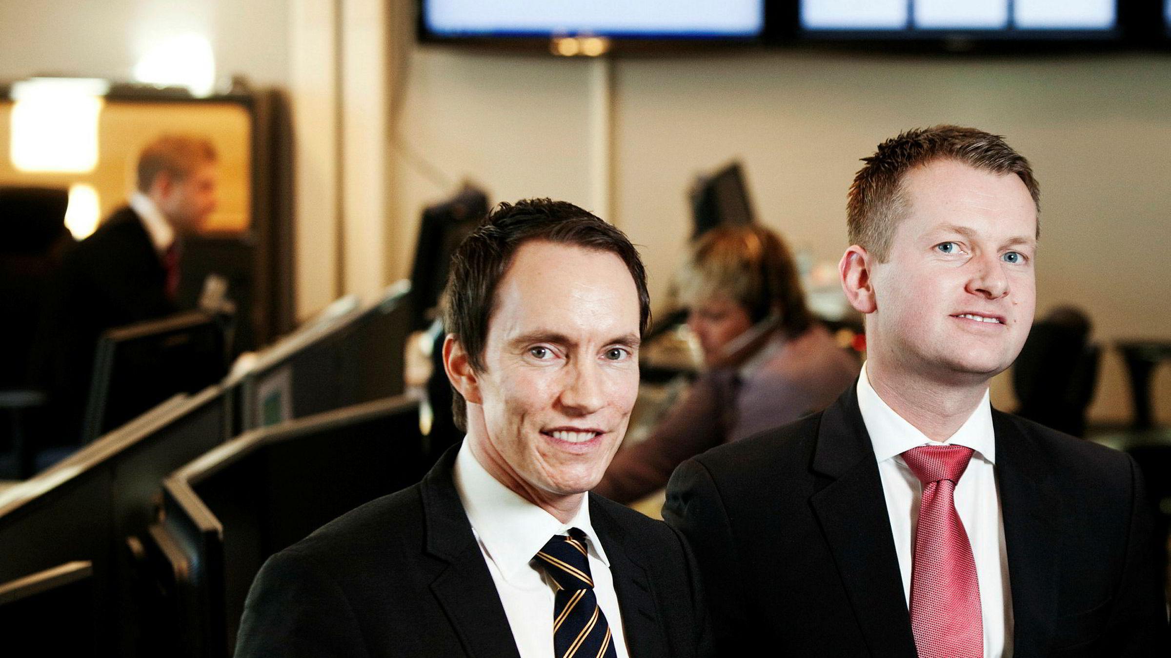Gründerne Erik Egenæs (til venstre) og Endre Tangenes i Nordic Securities får hard medfart i anmeldelsen fra Finanstilsynet.