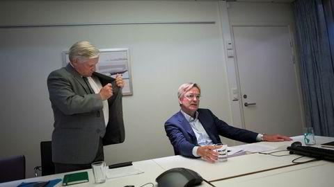 Tidligere styreleder Stig Grimsgaard Andersen (til høyre) og Mikkel Berg i Silver.