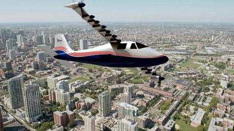 Elektriske fly er for drømmere, skrev Bjørn Gabrielsen i DN lørdag. Zeros Marius Holm har et helt annet syn på fremtiden til NASAs nye utvikling, som vil få passasjertrafikk på vingene i løpet av 10-15 år. Illustrasjon: NASA Langley/Advanced Concepts Lab, AMA, Inc.