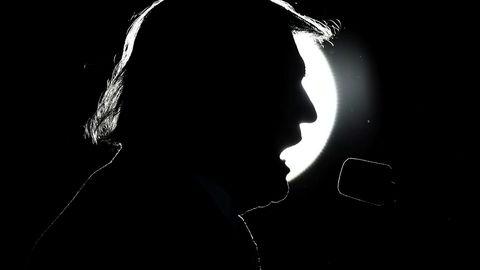 Presidenten. Donald Trump holdt tale 22. oktober i Virginia, 17 dager før det amerikanske folk gikk til urnene.