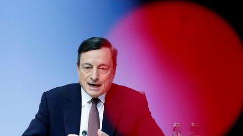 Sentralbanksjef Mario Draghi i Den europeiske sentralbanken ECB.