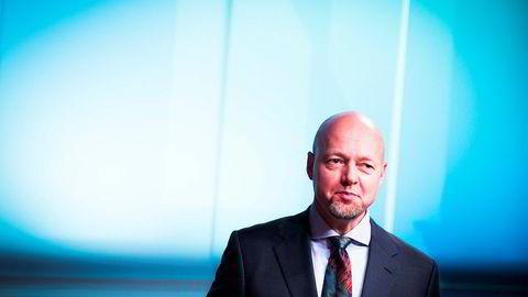 Oljefondet fikk en papirgevinst på 297 milliarder kroner i første kvartal. Her er oljefondssjefen, Yngve Slyngstad.