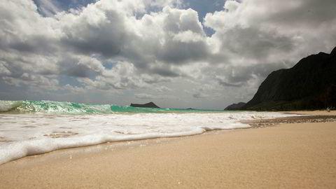 Nordea Markets venter en betydelig svakere dollar mot krone fremover. Det vil gjøre ferien i USA billigere. Her fraWaimanalo Bay Beach på Hawaii.