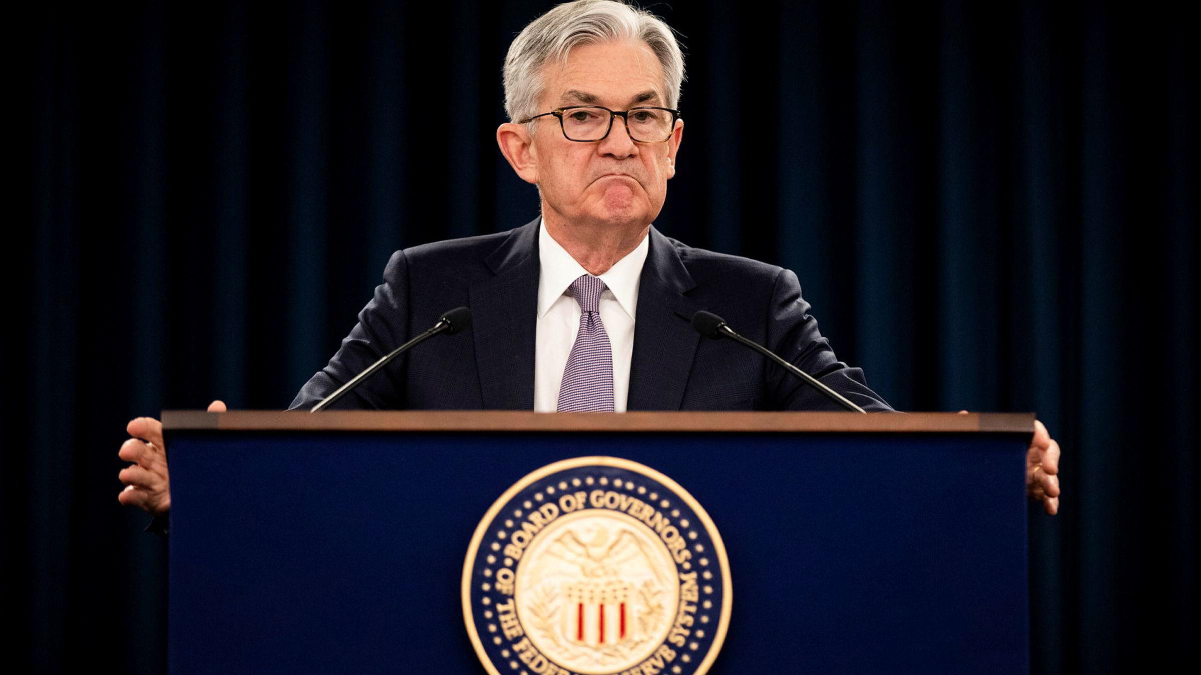 Koronakrisen er så dyp at sentralbanksjef Jerome Powell synes det er vanskelig å finne ord.