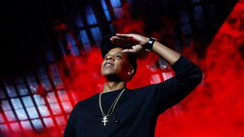 Hip-hop-mogulen Jay Z kjøpte Tidal av norske Schibsted for 56 millioner dollar vinteren 2015. Han ville skape musikkrevolusjon, i stedet ble det oppblåste tall, rettsoppgjør og direktørflukt. Her fra en konsert i New York arrangert av Tidal i 2015.