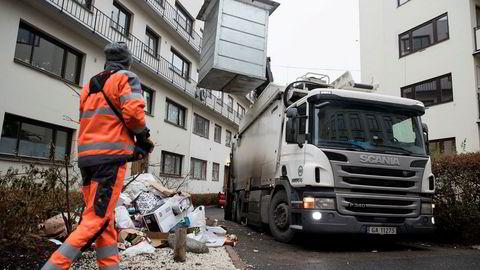 I november 2016 hadde et lite berg av søppel har samlet seg opp utenfor denne bygården på Grünerløkka i Oslo. Renovasjonsetaten mottok tusenvis av klager etter at selskapet Veireno overtok kontrakten på henting av avfall i Oslo.