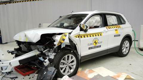 Volkswagen Tiguan ble kollisjonstestet av Euro Ncap i år, og er best av de små suvene.