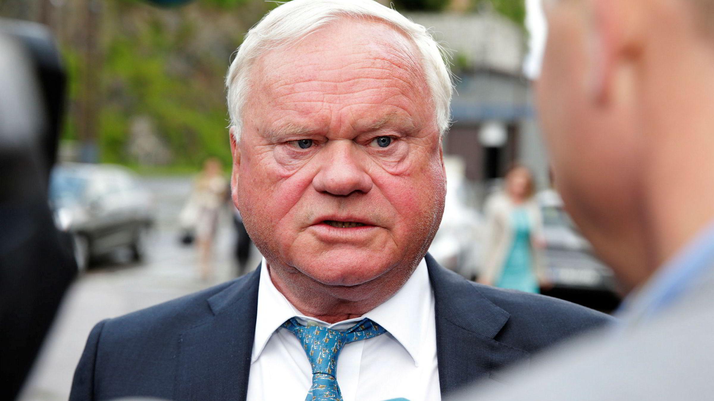 Skipsreder John Fredriksen på TradeWinds-festen i Oslo. Nå prøver obligasjonseiere i Seadrill å hindre Fredriksens redningsplan for selskapet.