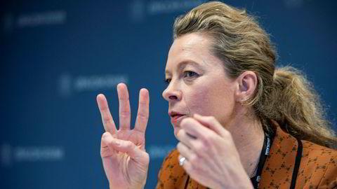 Korrupsjonsjeger Eva Joly hevder Økokrim, her ved konstituert sjef Hedvig Moe, mangler «visjoner».