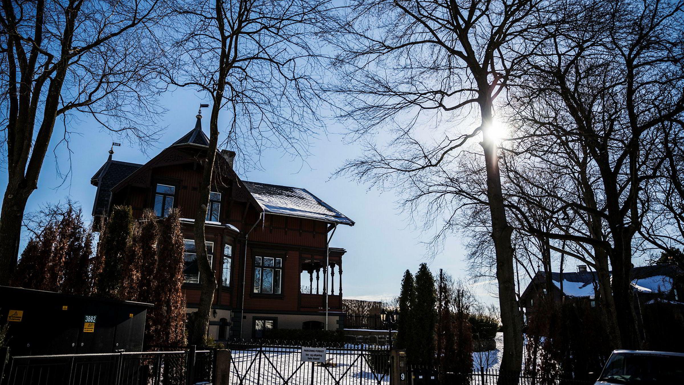 På denne høyden over Frogner ligger Kruses gate 9, som Selvaag-familien ikke lyktes med å bygge ut. Nå forsøker den tidligere meglertoppen Bjørn Sellæg, som selv bor i huset, og to kjente investorer å hente ut potensialet i prakteiendommen.