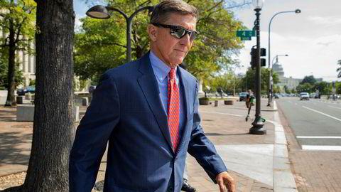Michael Flynn, president Donald Trumps tidligere nasjonale sikkerhetsrådgiver, fotografert i september i fjor. Over 1.100 tidligere medlemmer av den amerikanske påtalemyndigheten vil levere et prosesskriv til domstolen som skal ta stilling til USAS riksadvokat om å henlegge straffesaken mot Flynn